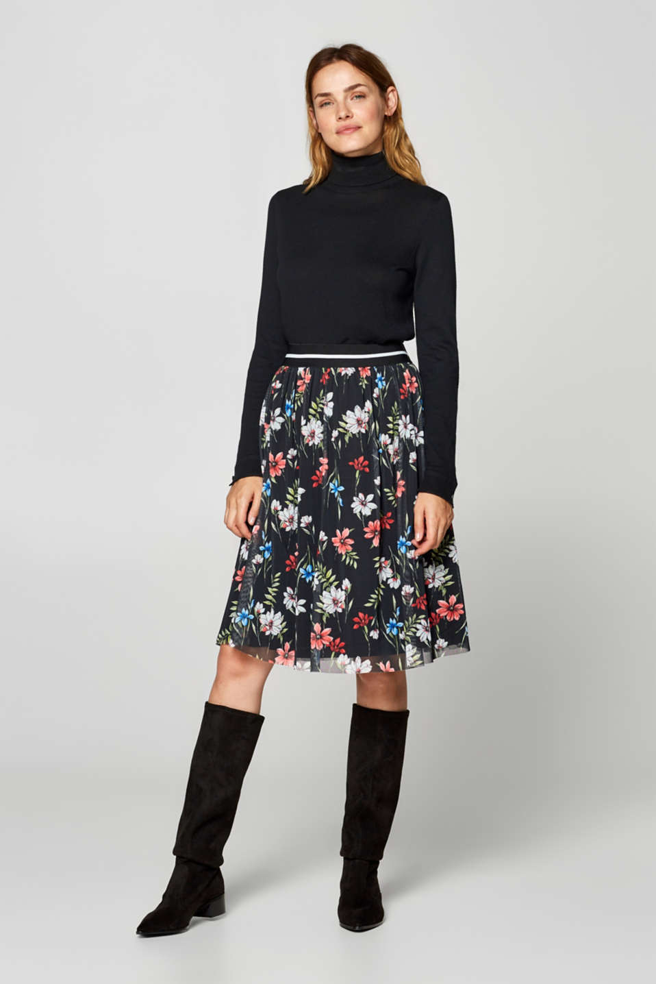 Esprit - Midi-length tulle skirt