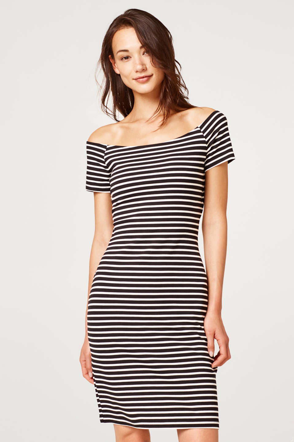 Esprit - Stretch dress with a shaping effect