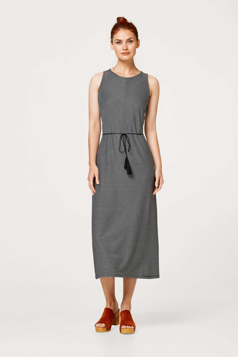 Esprit - Midi dress in stretch jersey
