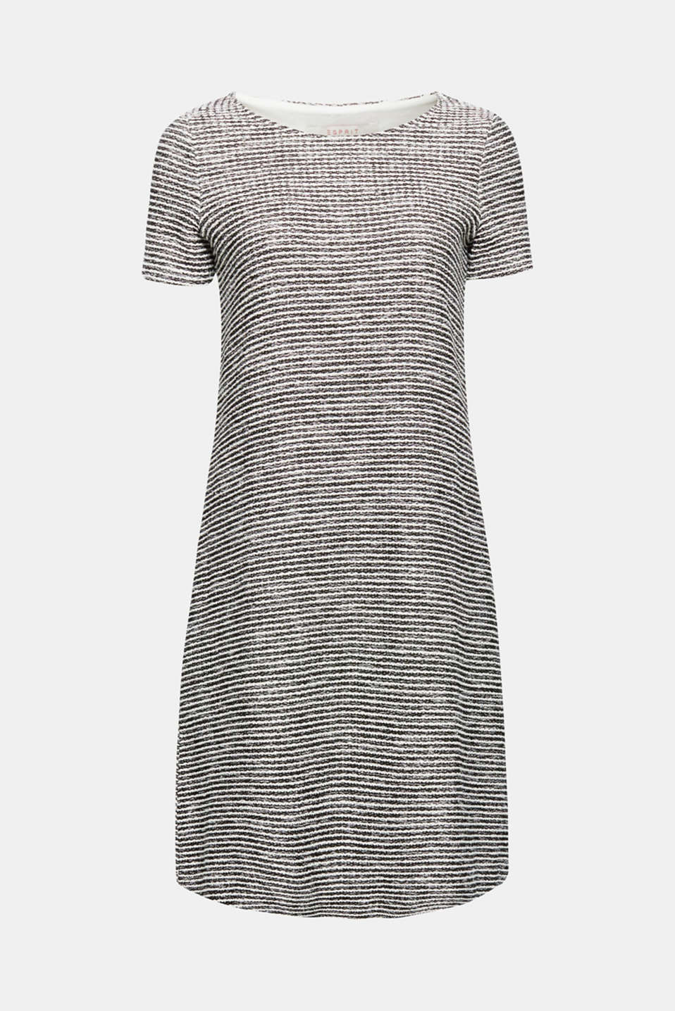 Textured stripes in a summery, bouclé look give this dress with a flared skirt a charming look!