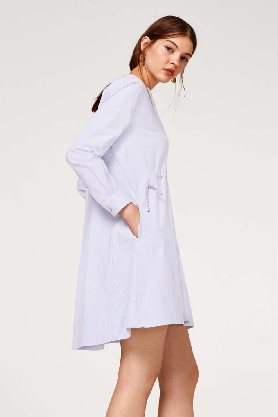 Esprit - Shirt dress with a drawstring waist