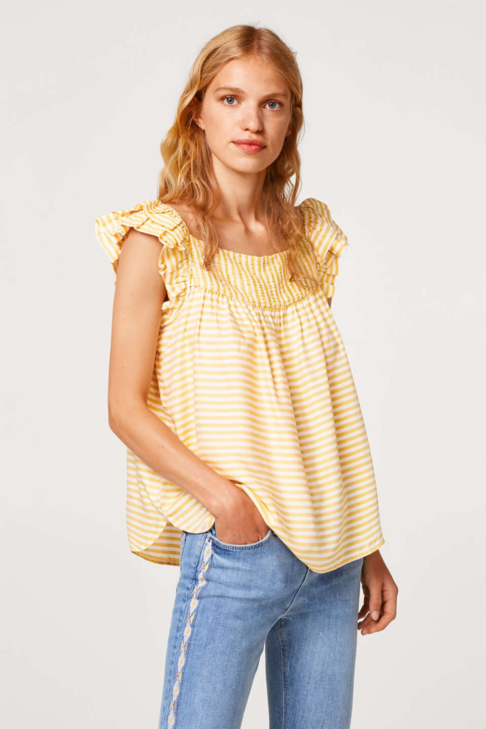 Esprit - A-line blouse top with frills