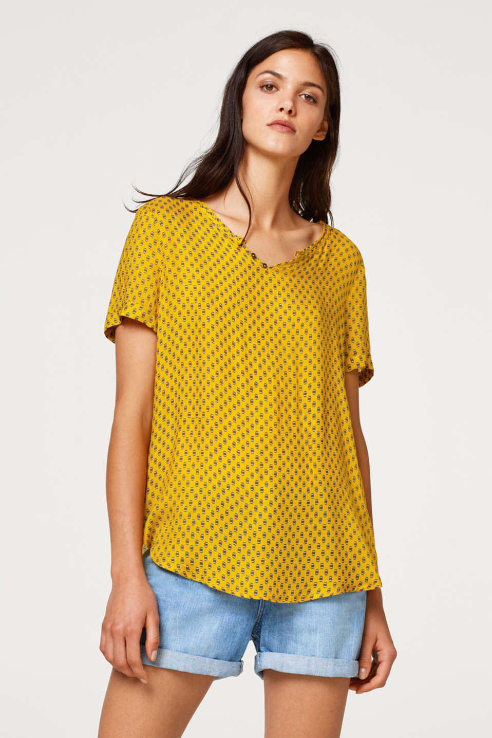 Esprit - Blouse top in a Henley style