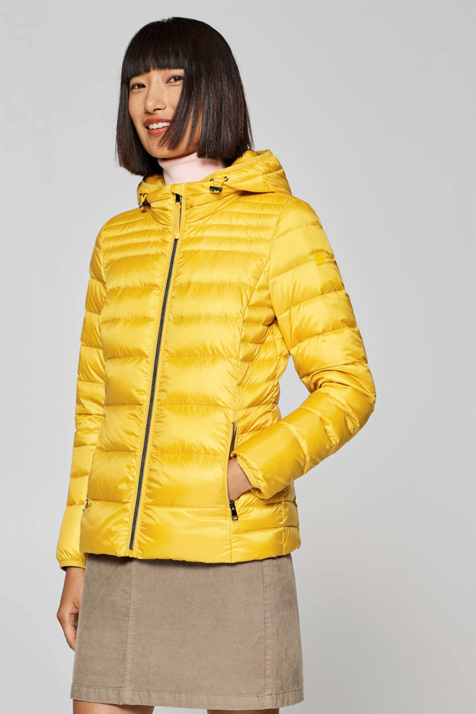 Esprit - Ultra lightweight down jacket with a hood