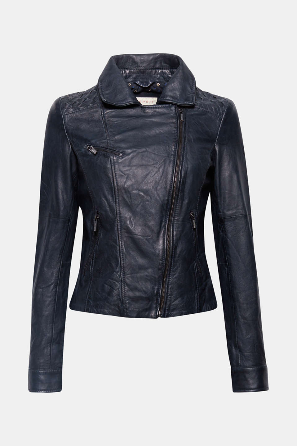 This soft leather jacket in a biker look is a must-have piece which gives our wardrobe the injection of coolness it needs.