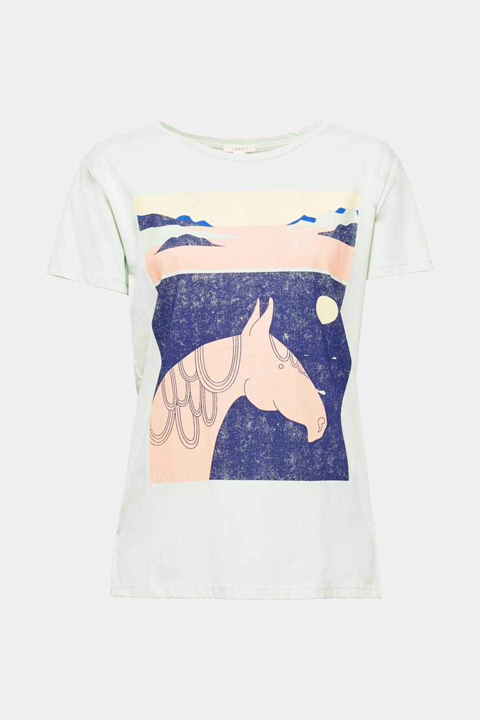 This soft slub T-shirt in a casual vintage style is artistic, decorative and striking thanks to the geometric print!