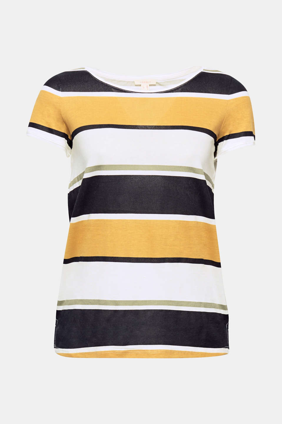 Block stripes on smooth jersey give this top its elegant look!