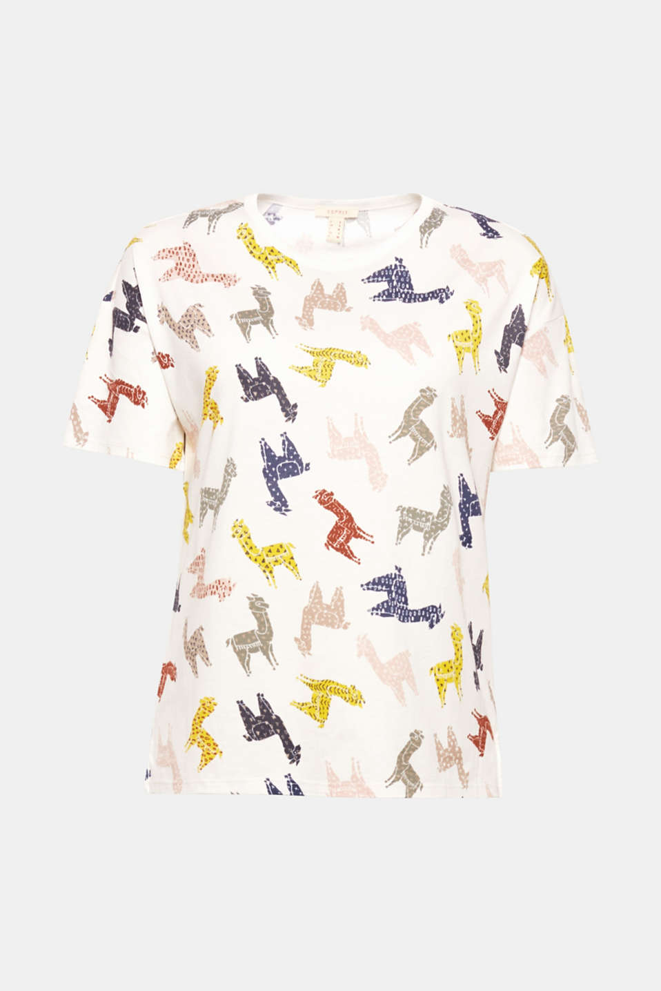 The original all-over print and deeply-set, wide sleeves give this short, boxy T-shirt its nerve-tingling new look!