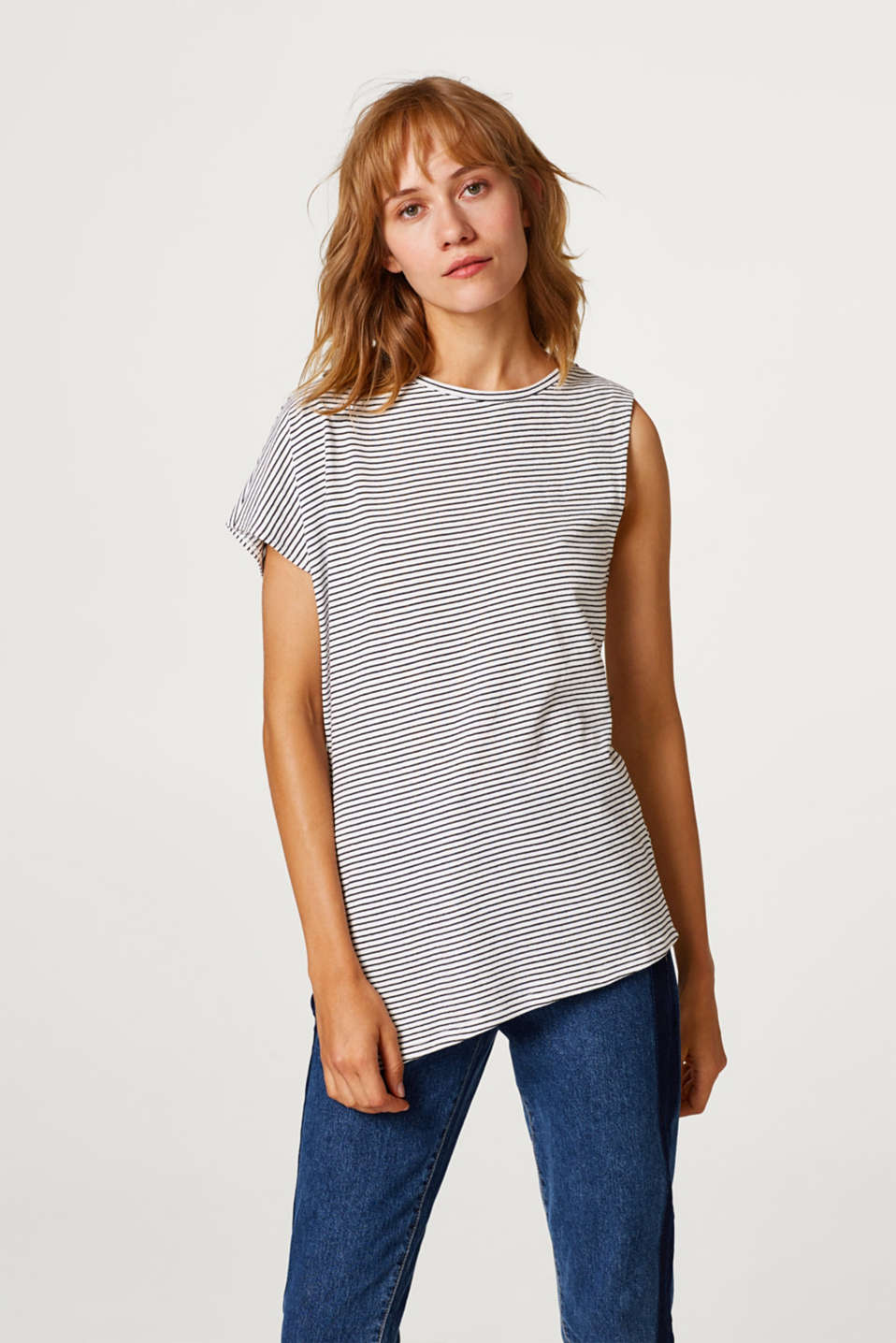 Esprit - One-shoulder top, 100% cotton