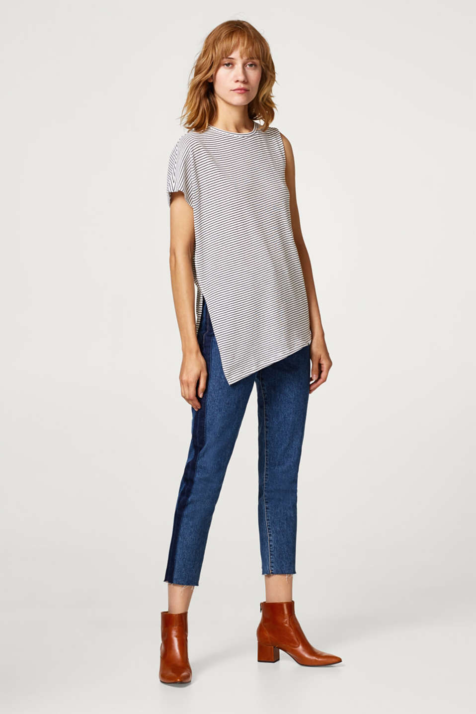 One-shoulder top, 100% cotton