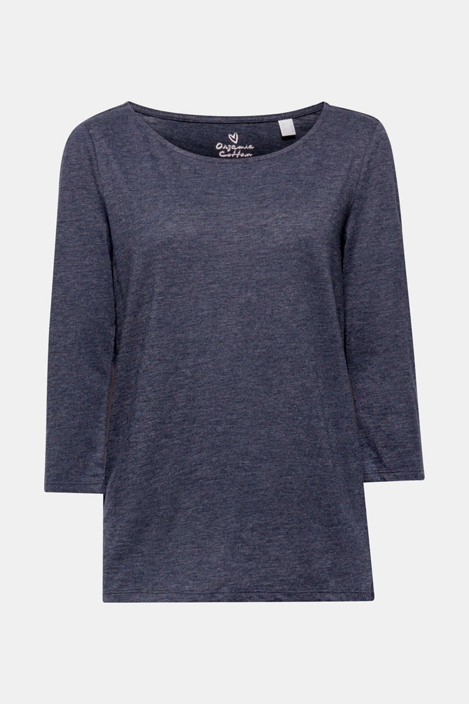 Casual and sustainable: this loose, long sleeve top containing environmentally-friendly, premium organic cotton is a brilliant basic