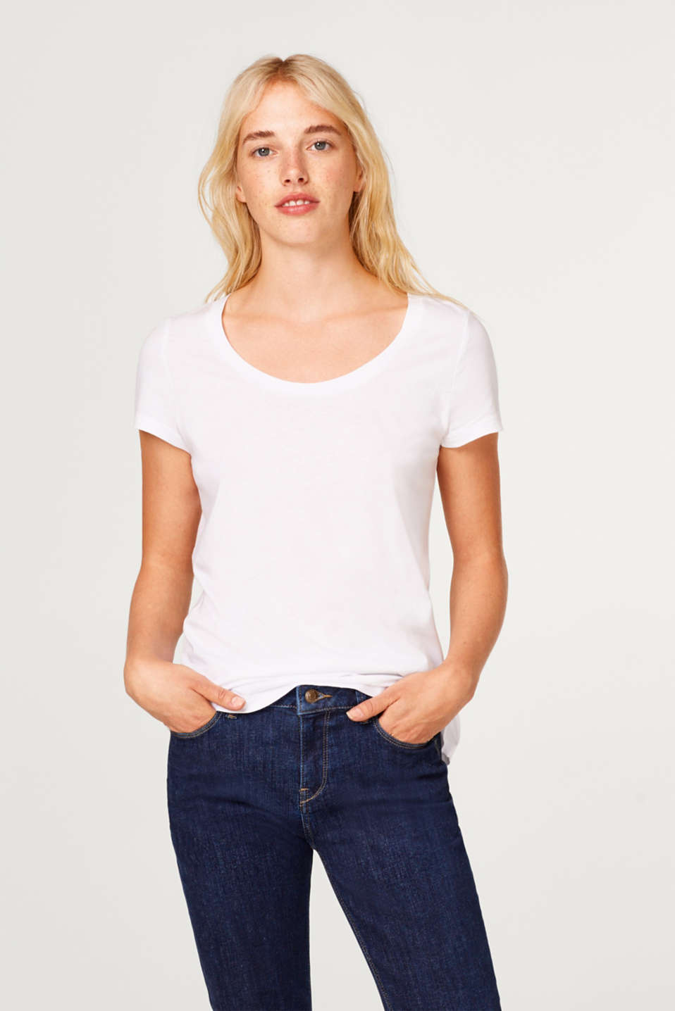 Esprit - In a pack of two: round neck T-shirts