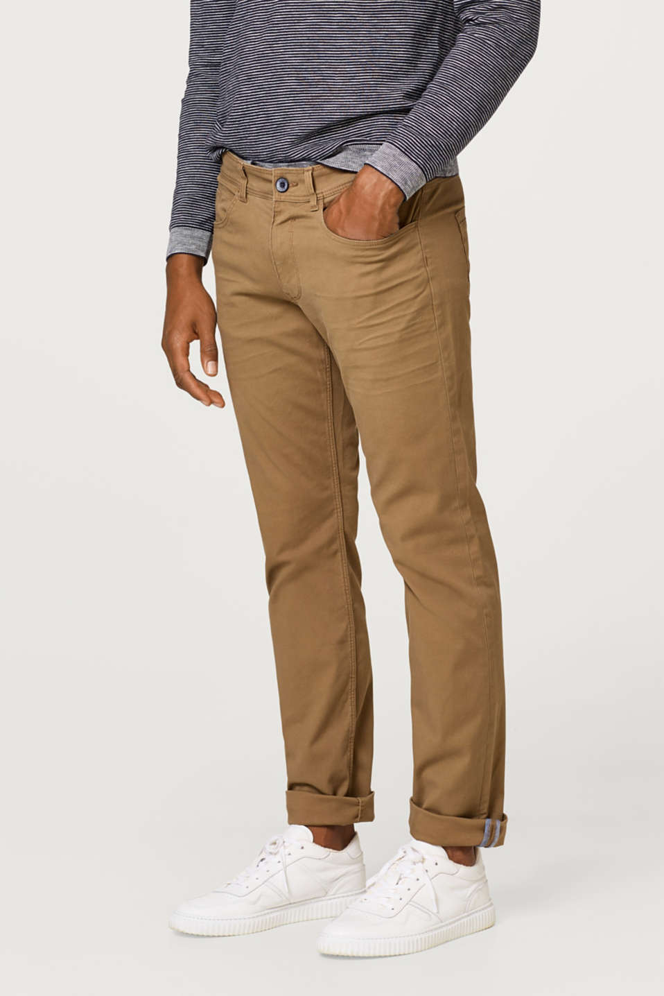 Esprit - Twill trousers in 100% cotton