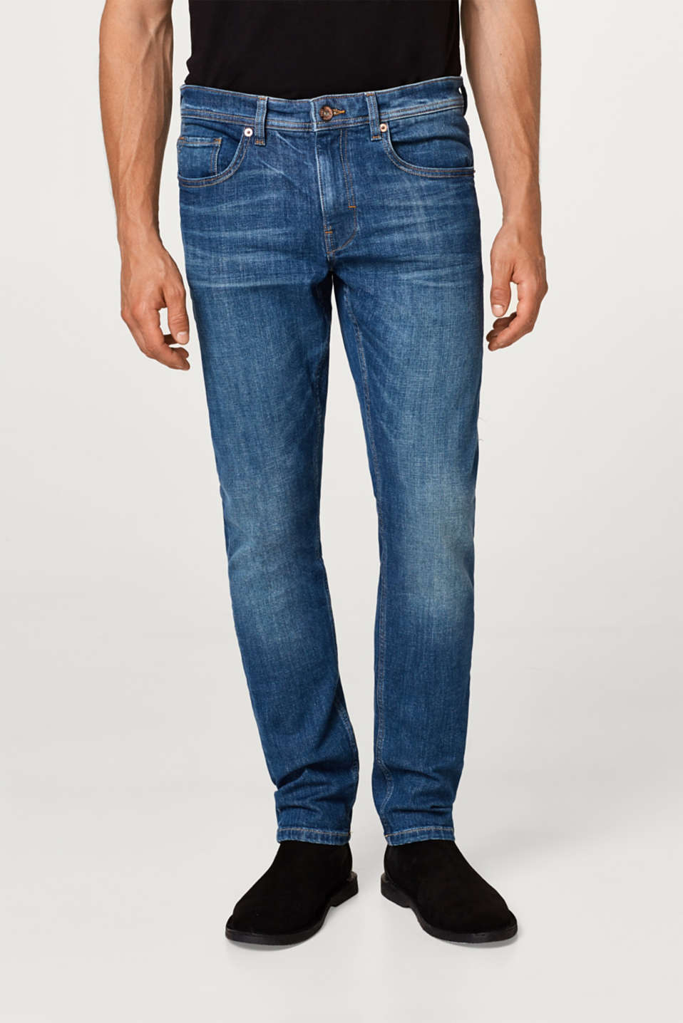 Esprit - Stretch-Jeans mit Washed Out-Effekten