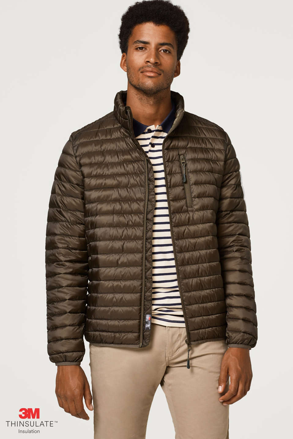 Esprit - Lightweight quilted jacket with 3M® Thinsulate® padding