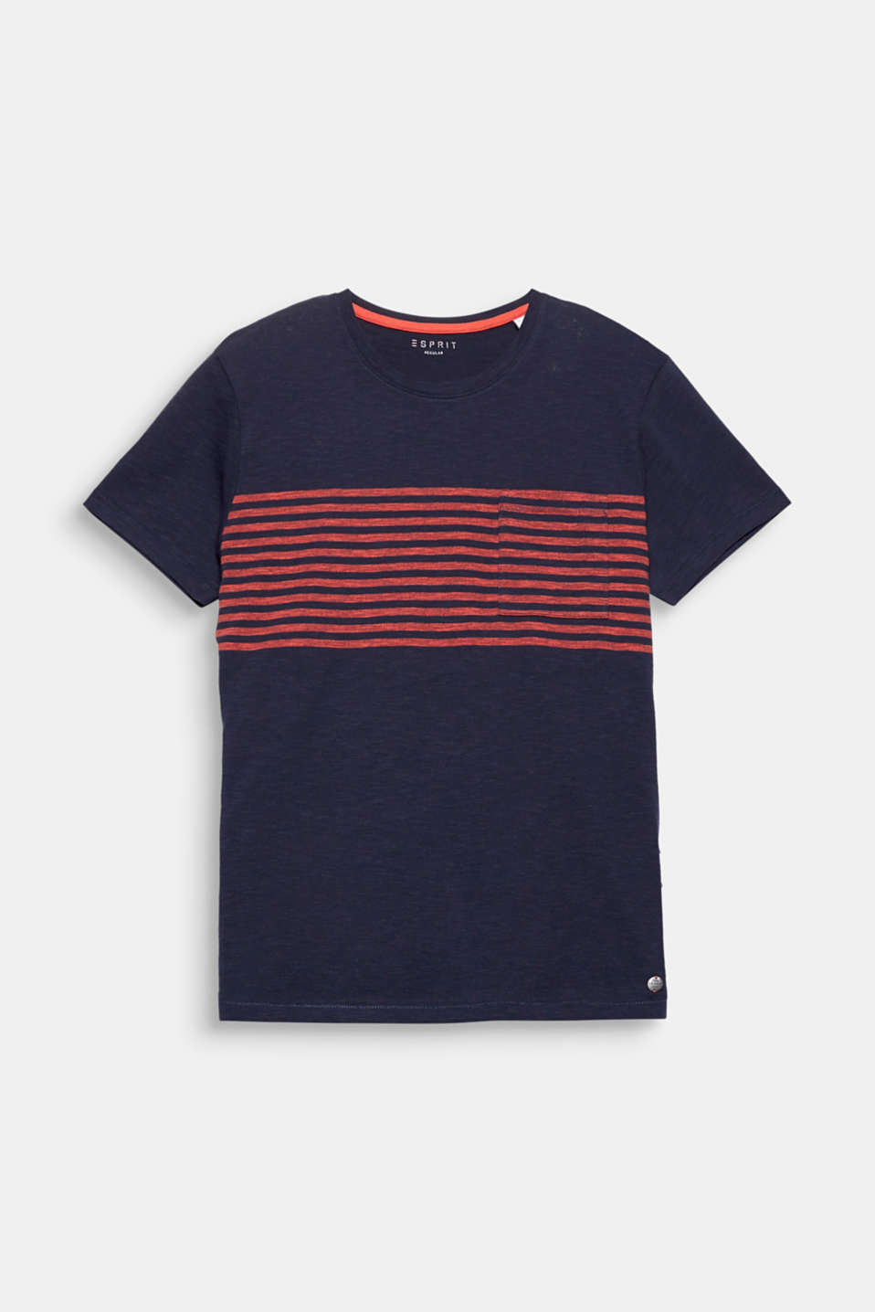 Stunning stripes create an exquisite accent: slub jersey T-shirt.