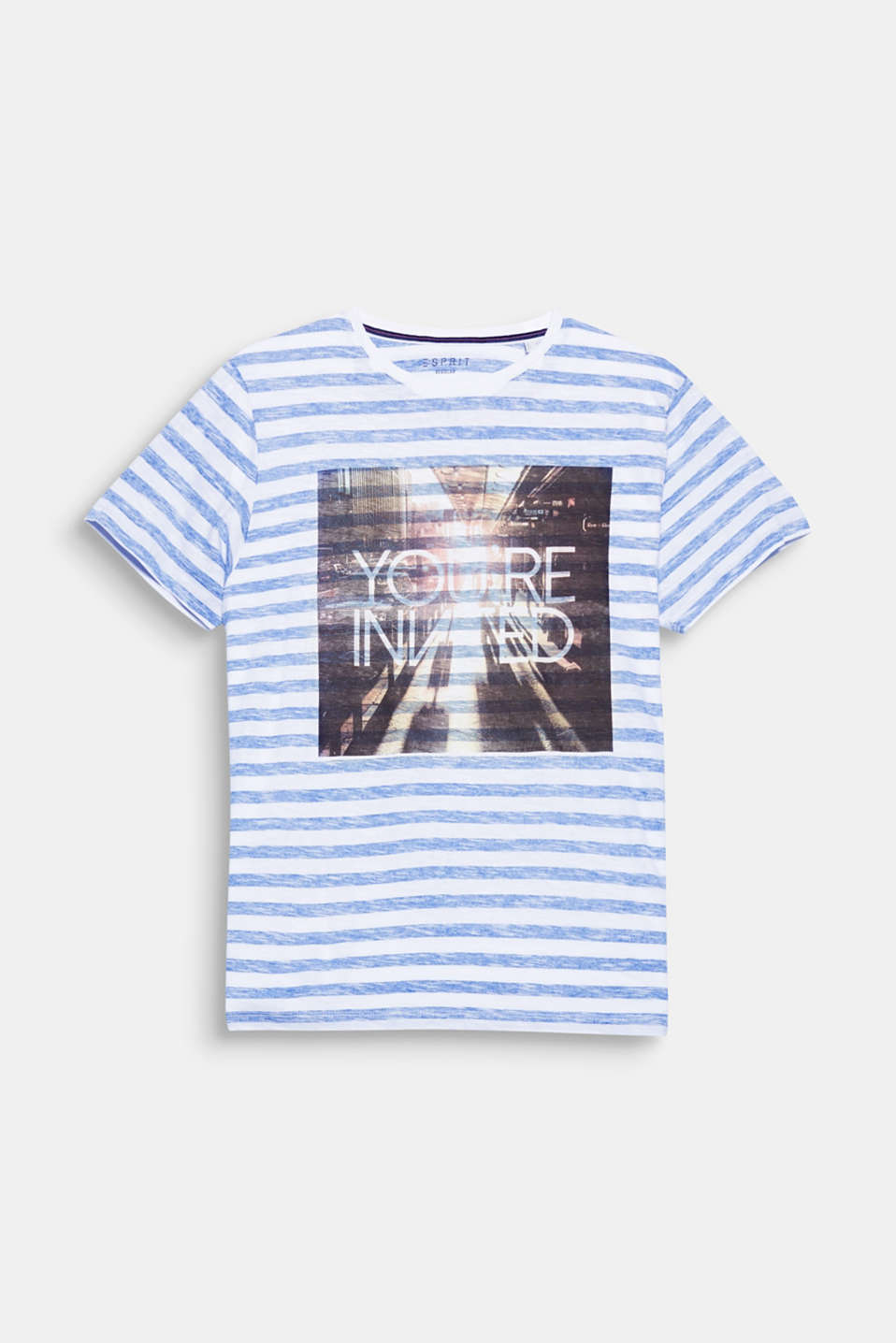 You are invited! The atmospheric photo print gives this T-shirt with an inside-out print a distinctive look.