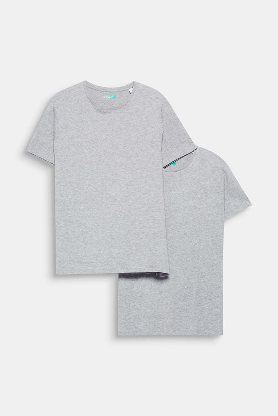 A pair of fashion basics and a must-have for every wardrobe: T-shirt with a round neckline containing environmentally-friendly, premium organic cotton.
