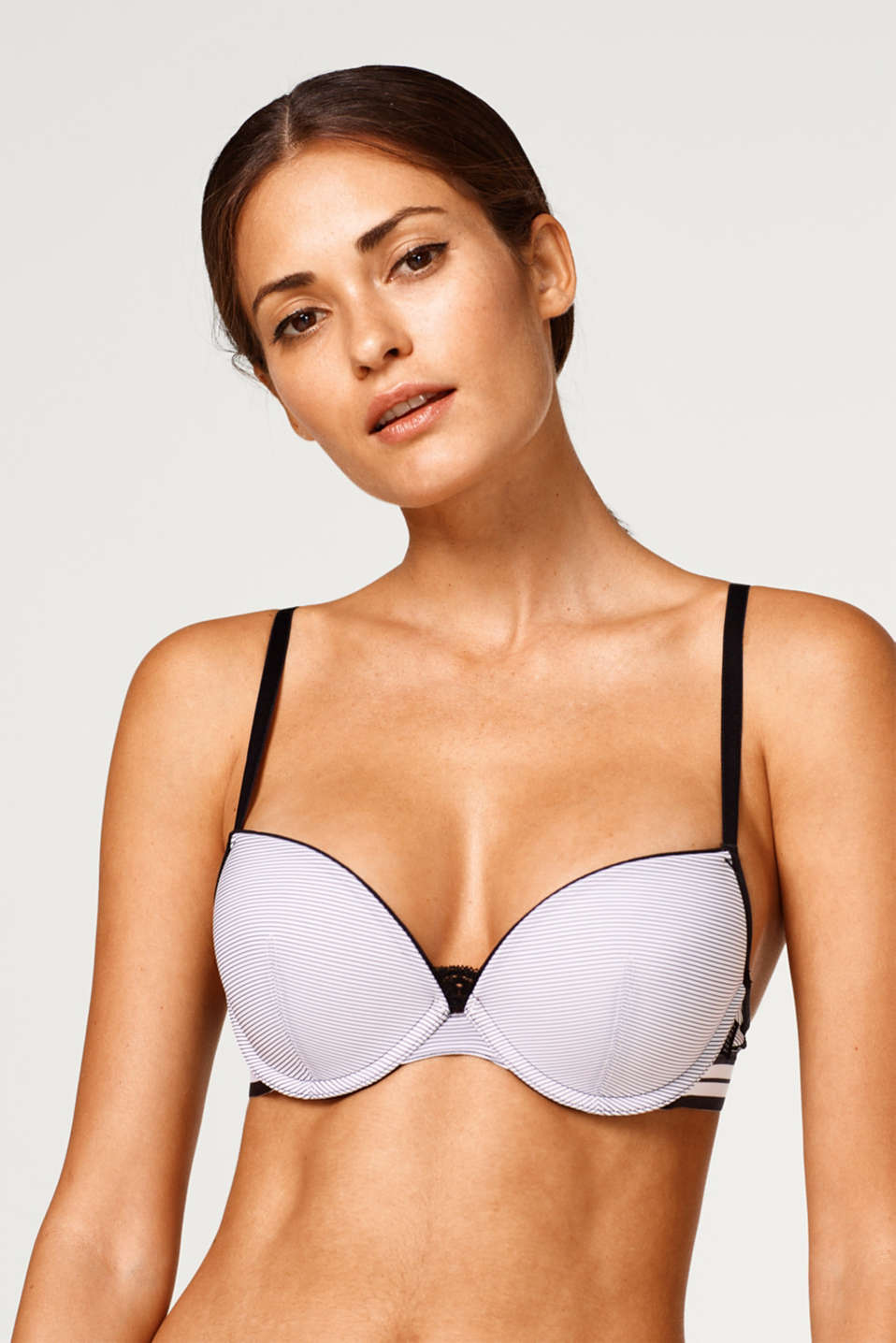 Esprit - Padded underwire bra with pinstripes