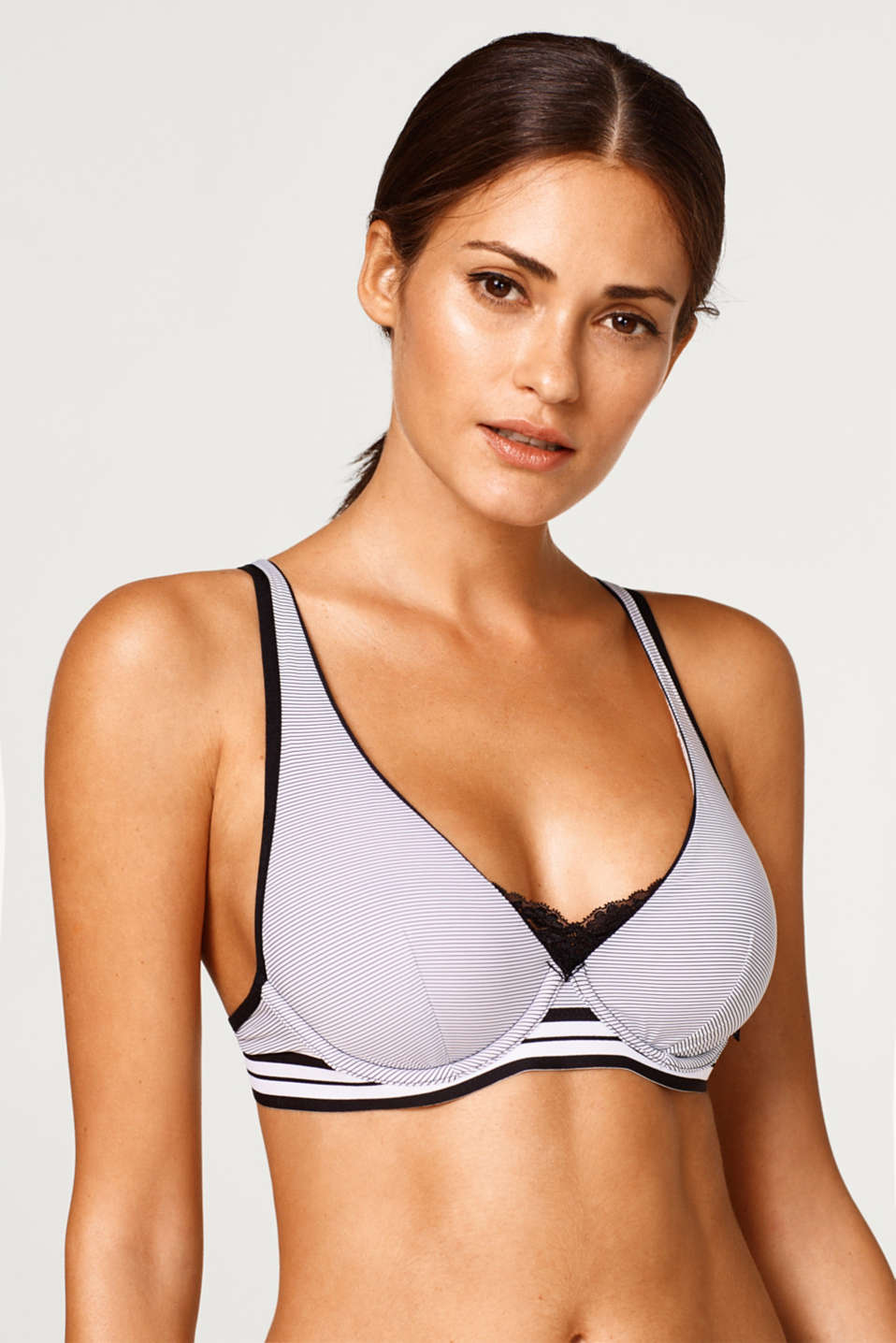 Esprit - Unpadded underwire bra with pinstripes