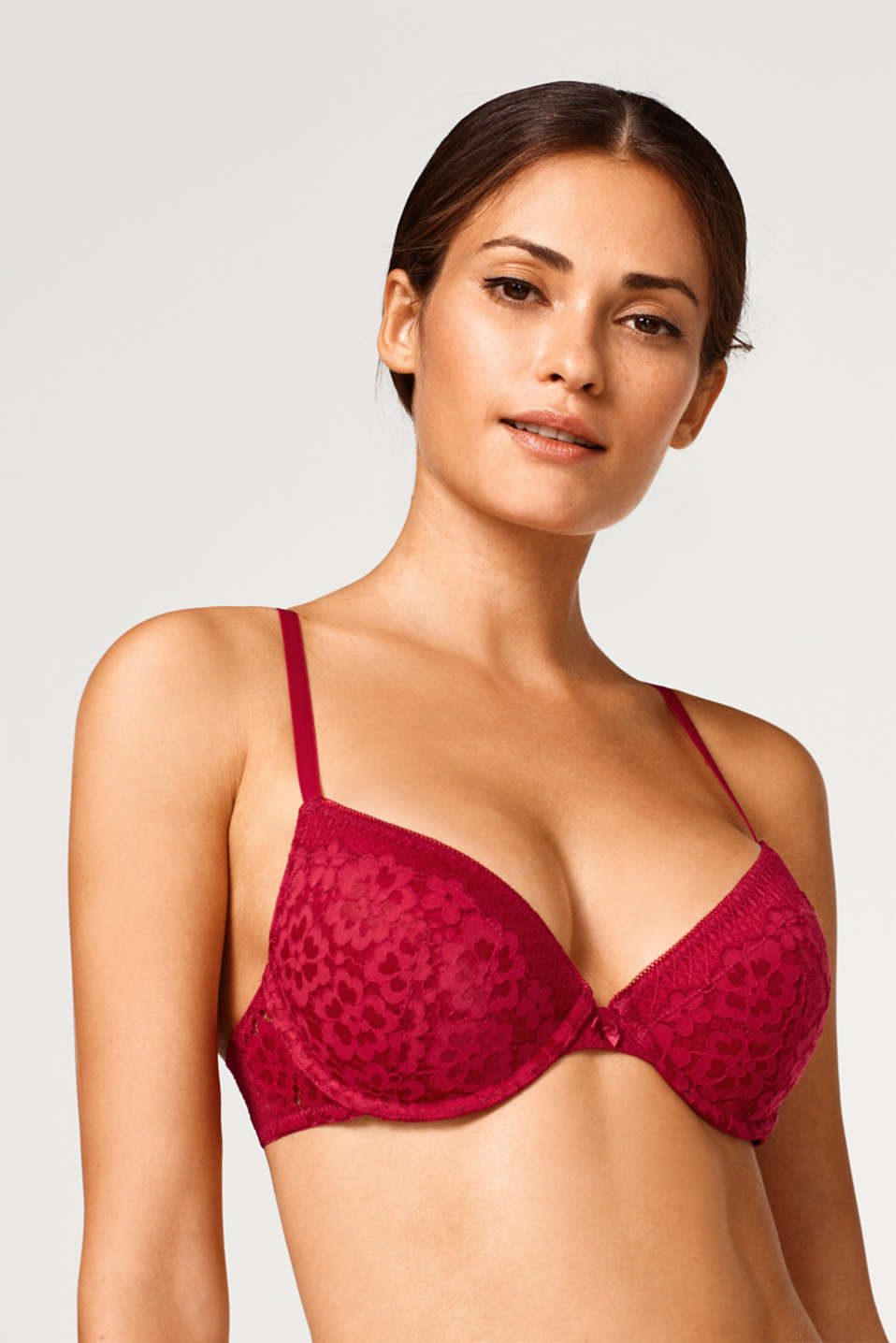 Esprit - Push-up bra in two kinds of lace