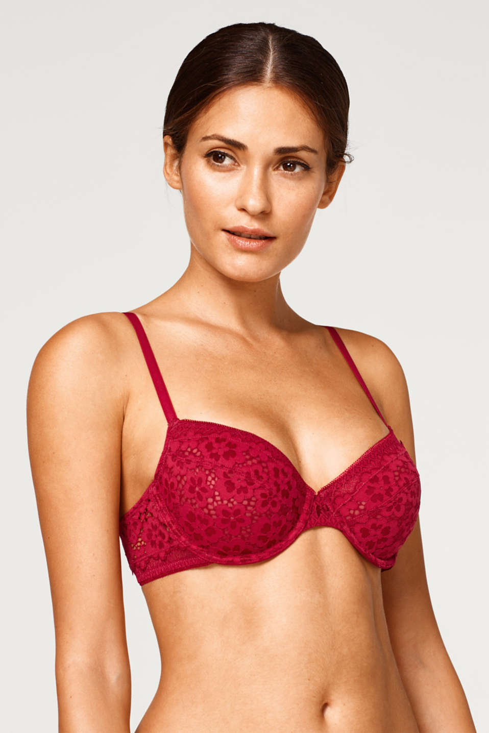 Esprit - Unpadded underwire bra with two kinds of lace