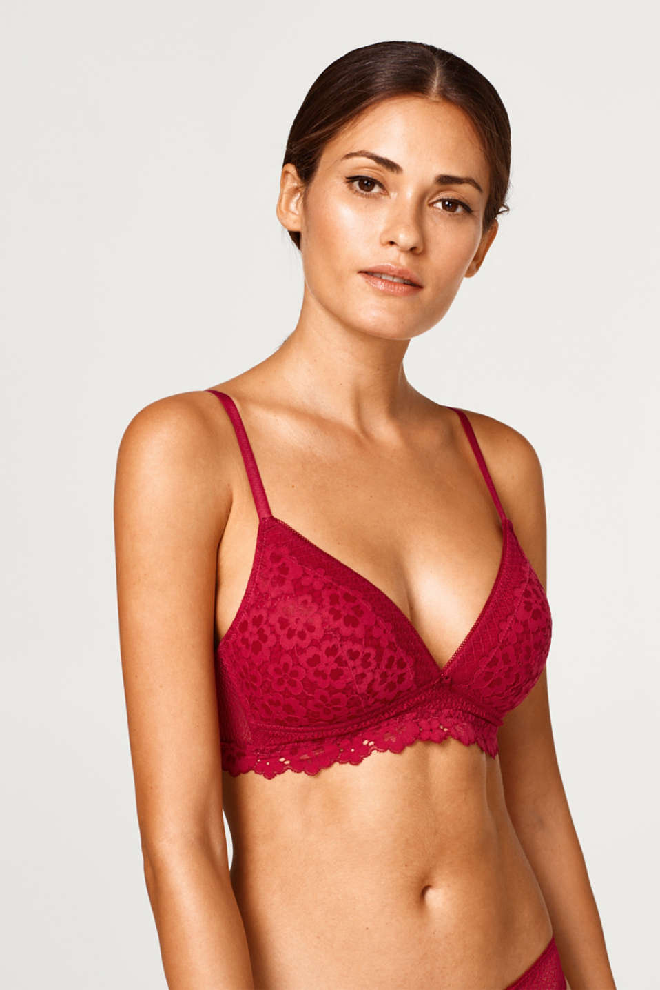 Esprit - Padded bra in two kinds of lace