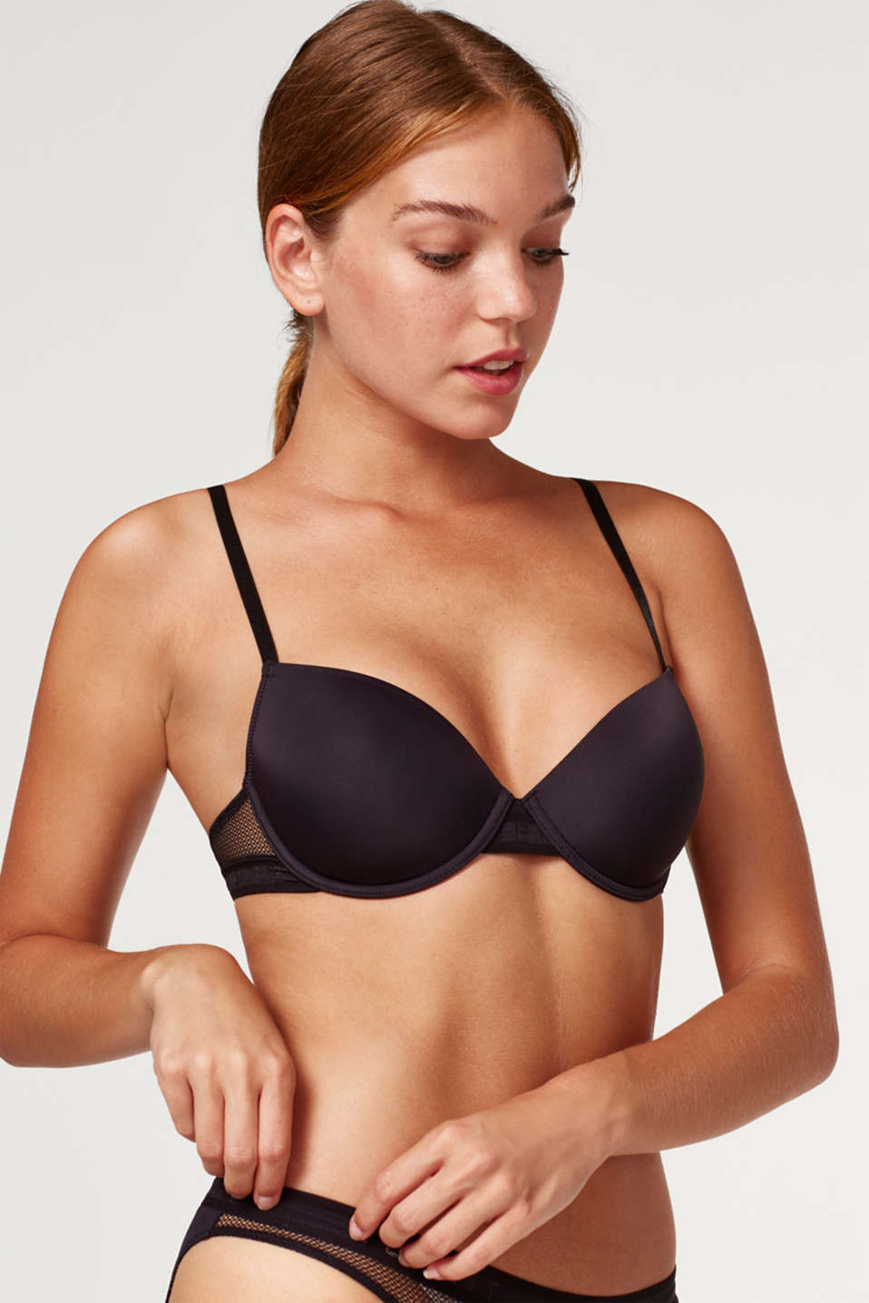 Esprit - Padded underwire bra with mesh inserts