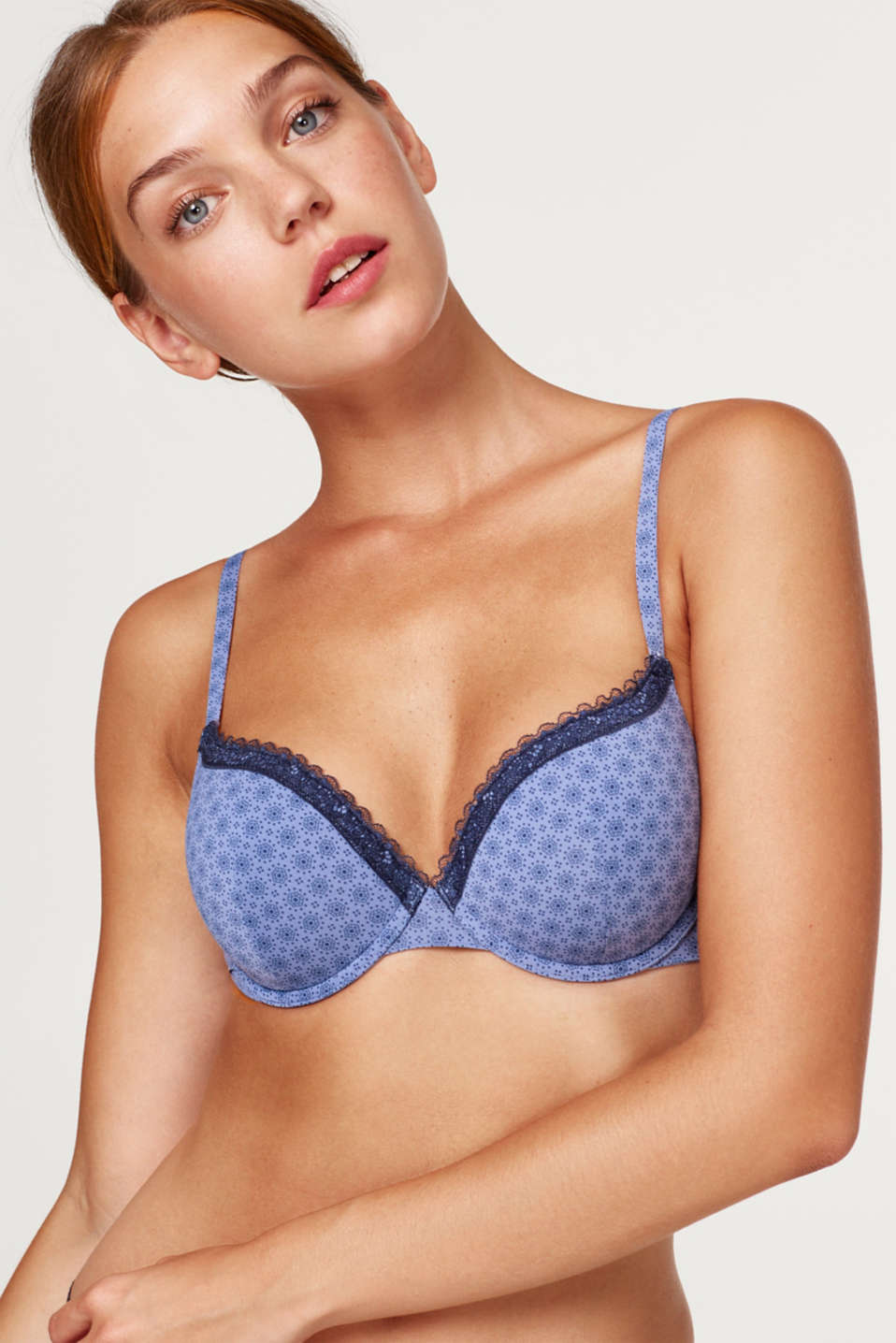 Esprit - Padded underwire bra with a print