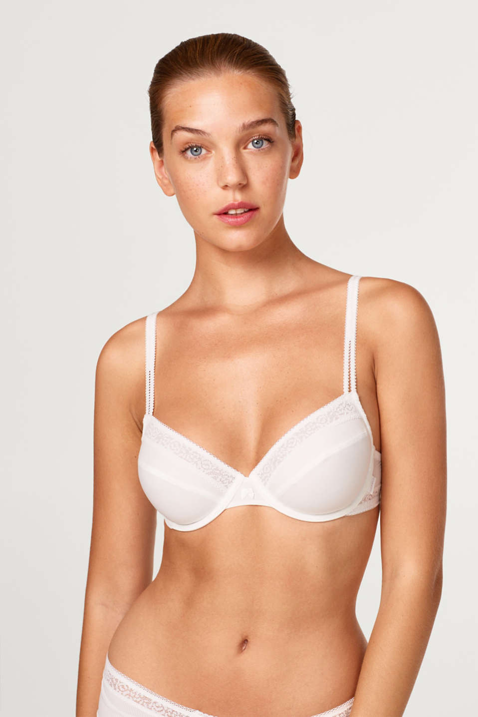 Esprit - Non-padded underwire bra with textured microfibre