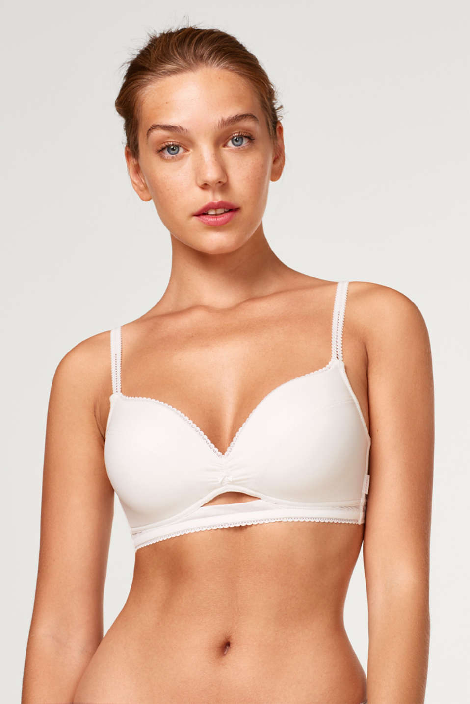 Esprit - Padded, non-wired bra with textured microfibre