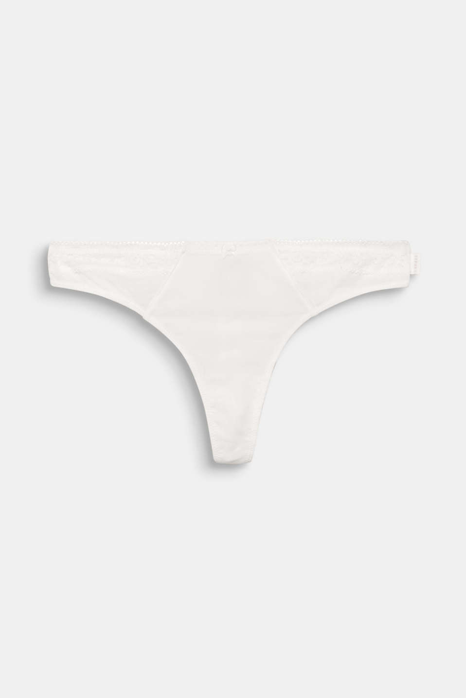 CASSIA collection - delicate, fine textured microfibre and the floral lace trim give this hipster thong its ultra feminine look!