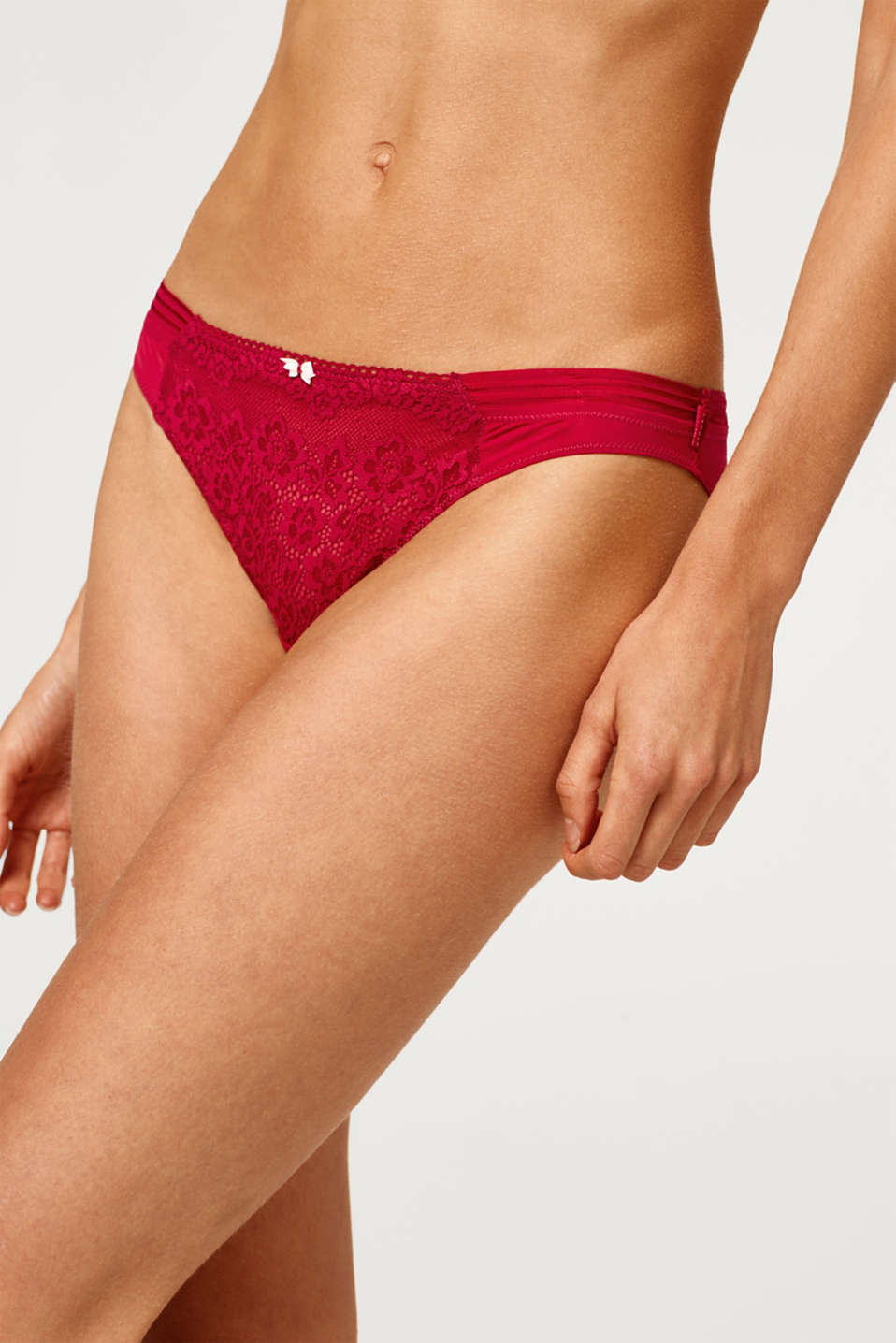 Hipster briefs with floral lace