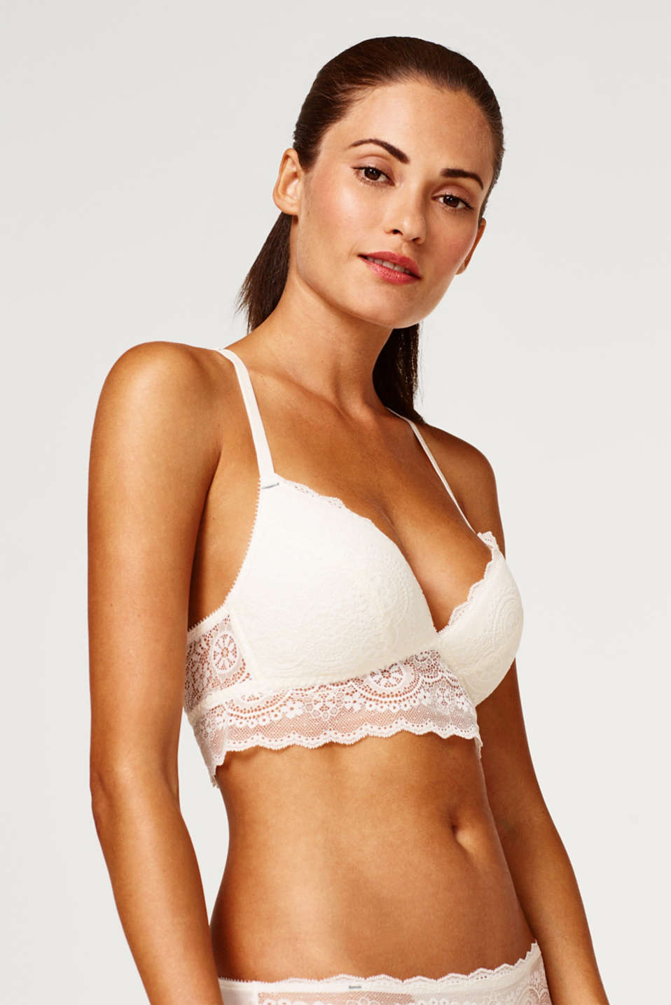Esprit - Padded non-wired bra with back strap