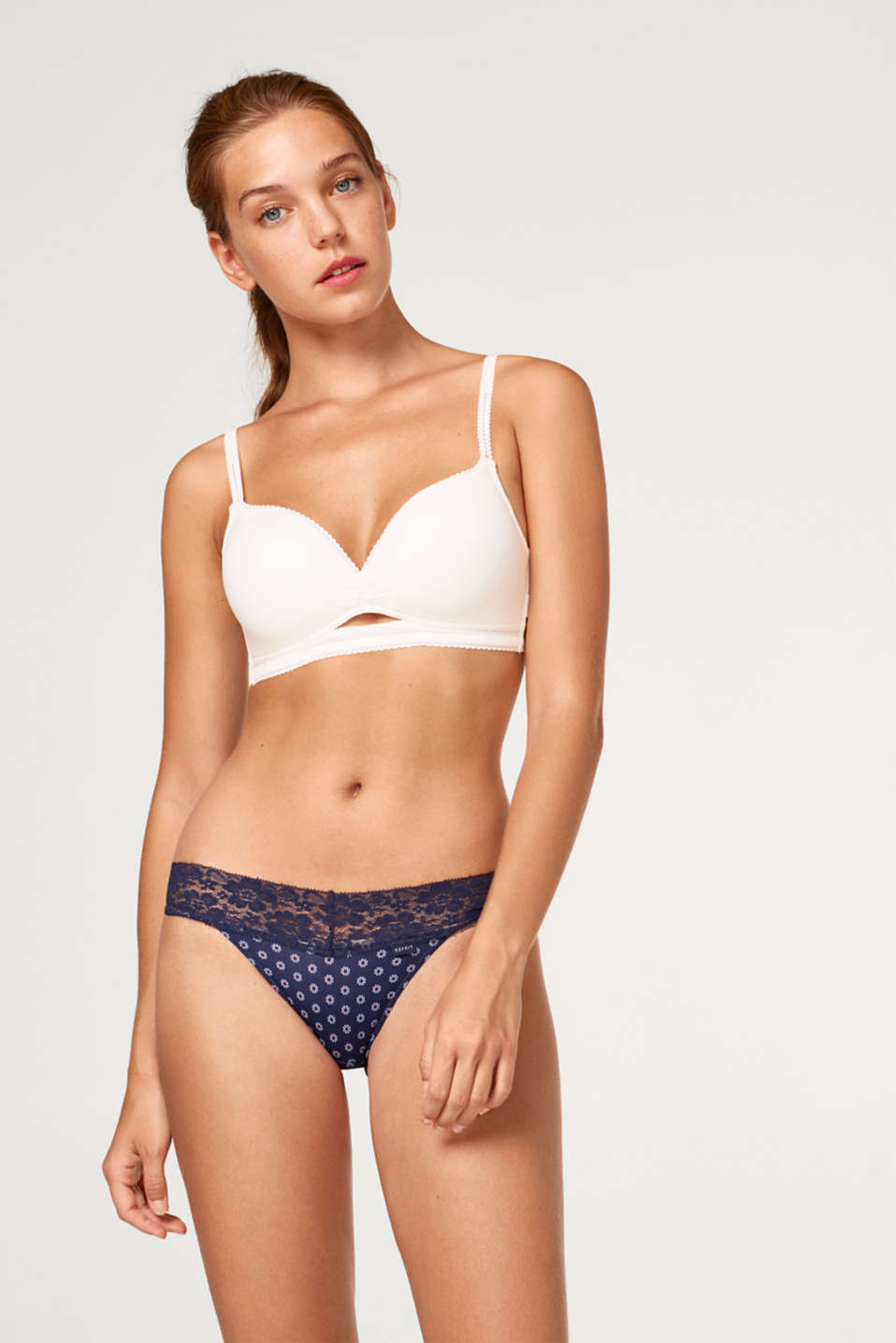 Esprit - Hipster briefs with print and lace