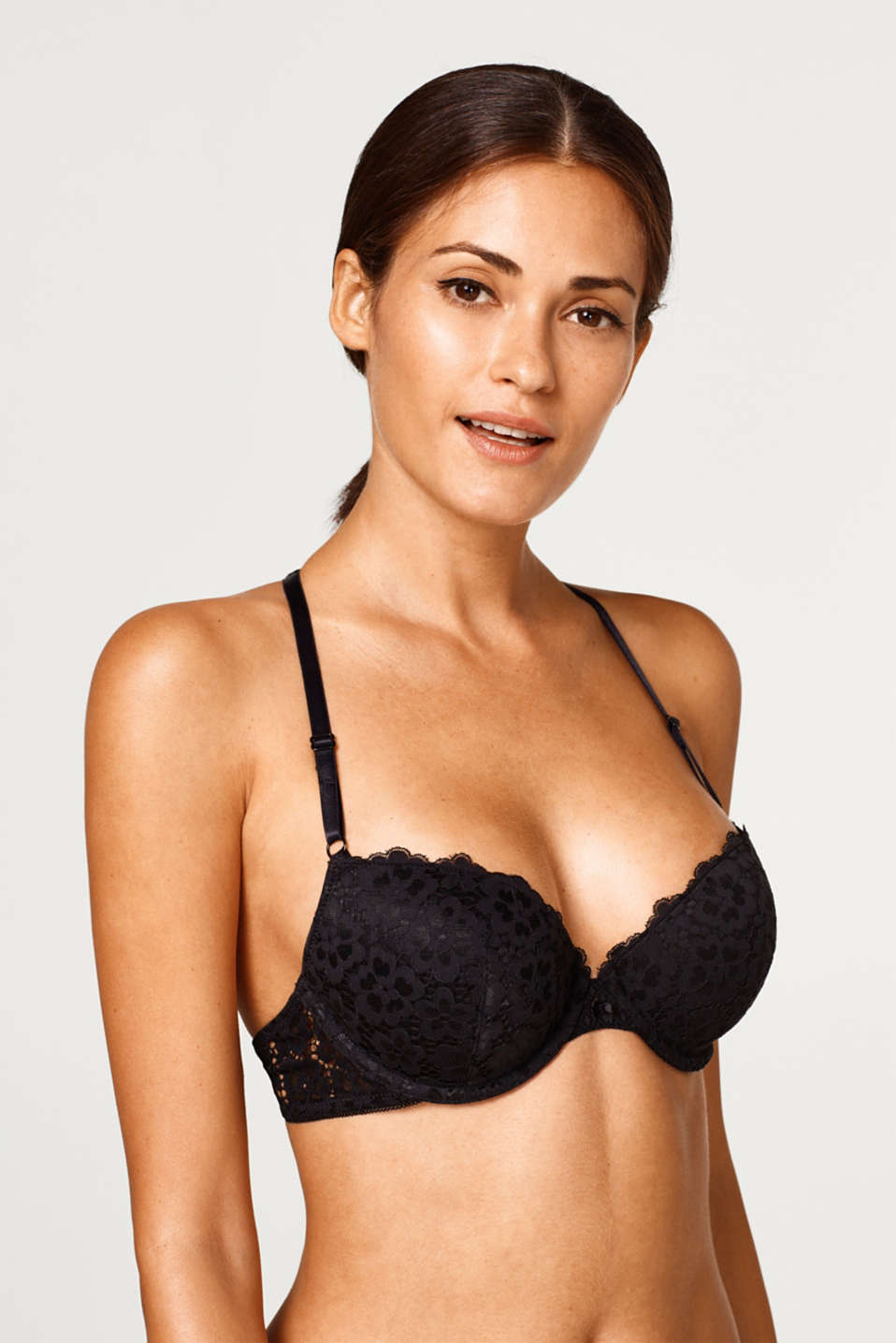 Esprit - Padded underwire bra with modern straps