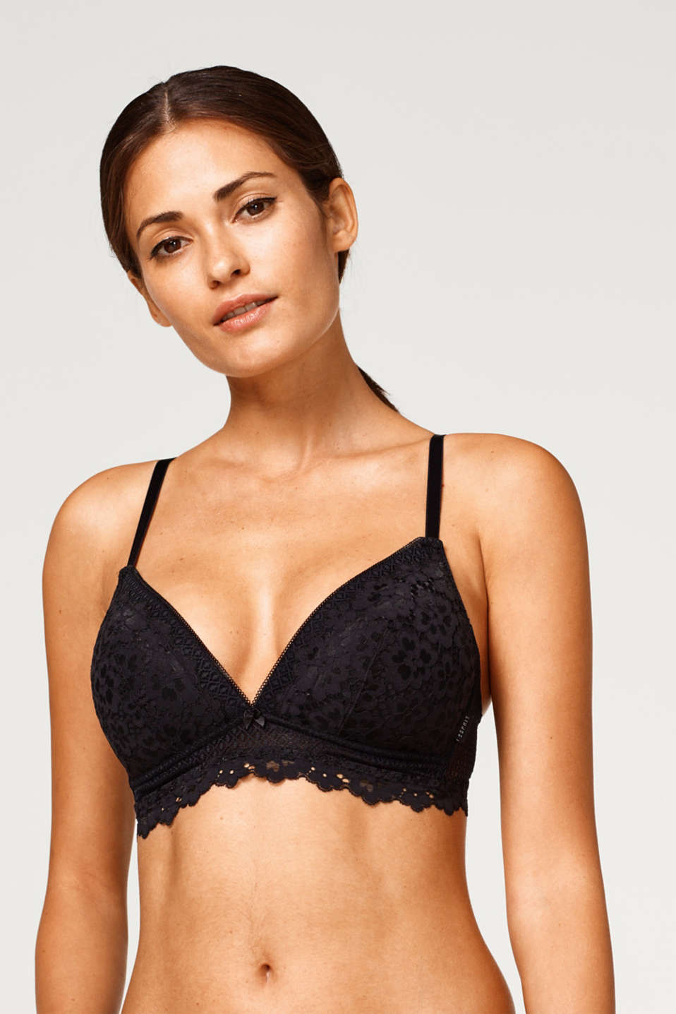 Esprit - Padded non-wired bra in two kinds of lace