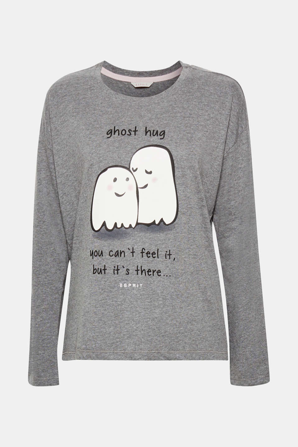 A scarily beautiful hug! This long sleeve top is defined by its ghostly cute front print – so adorable that it's almost a shame to fall asleep.