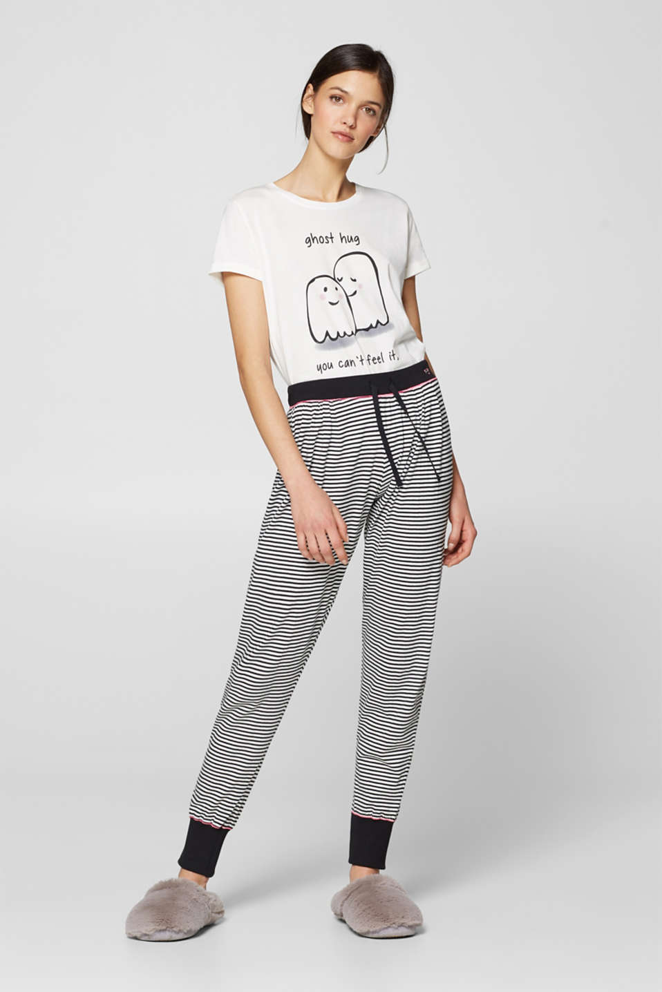 Esprit - Striped pyjama bottoms, 100% cotton