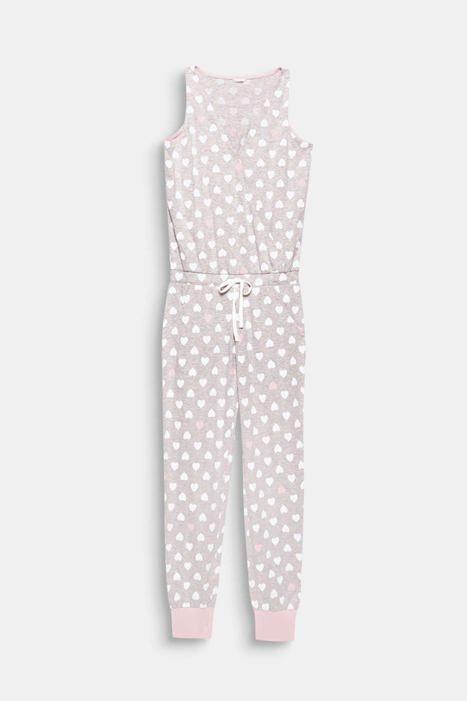 A stylish way to dream the night away: jersey jumpsuit with a pretty heart print and a high feel-good factor!