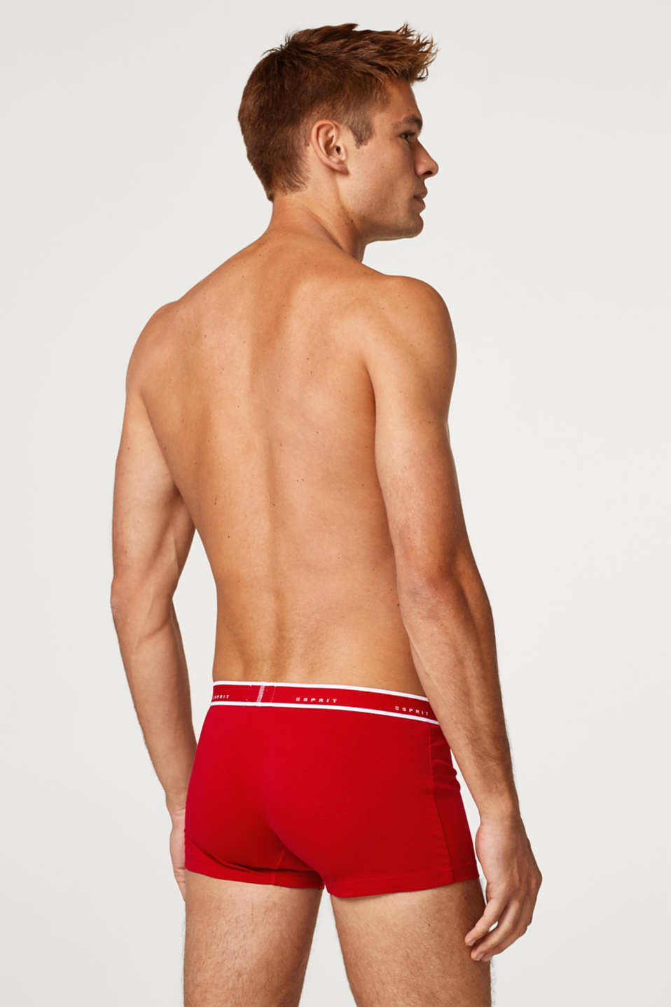 Triple pack of hipster shorts with a plain-coloured design