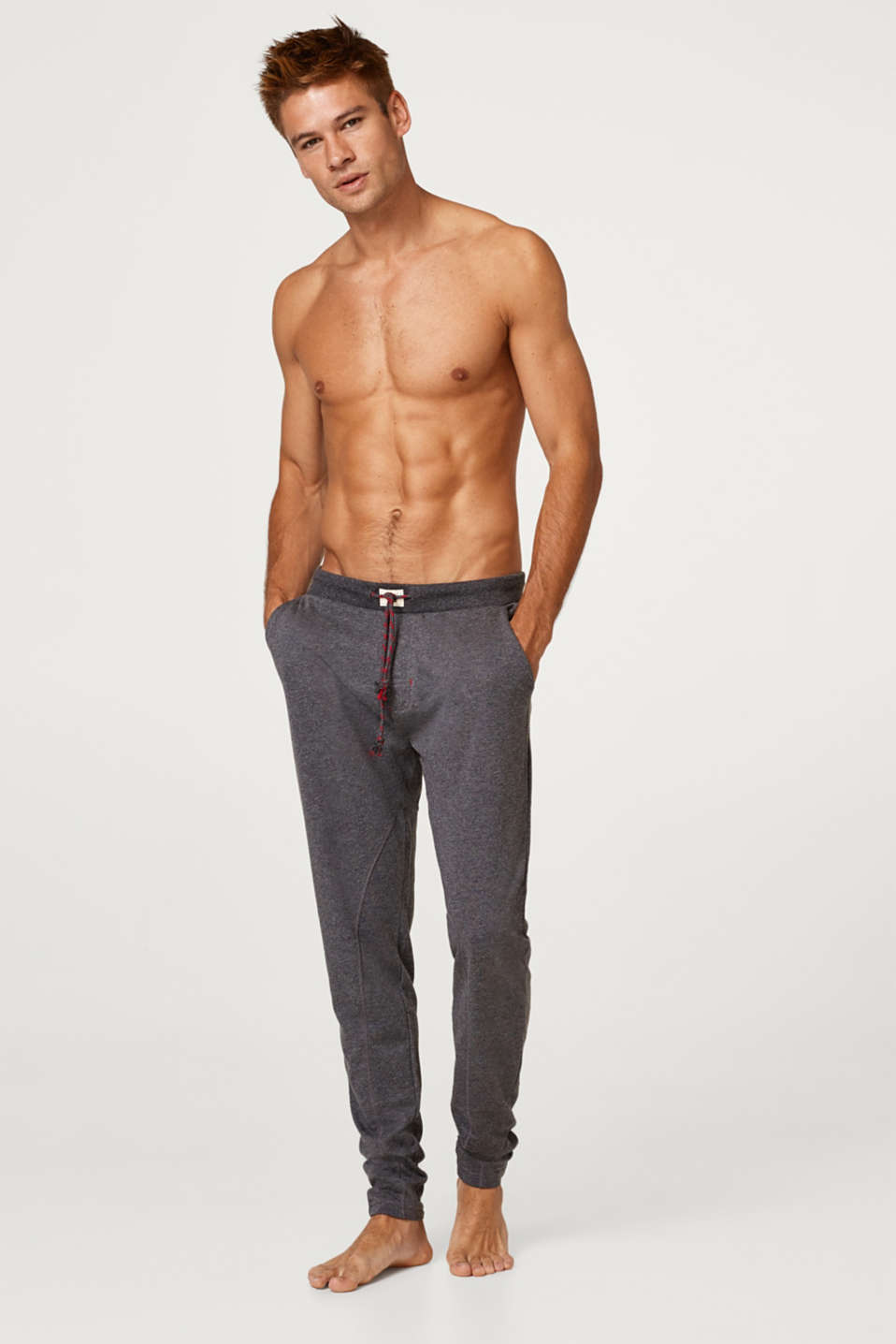 Esprit - Blended cotton tracksuit bottoms