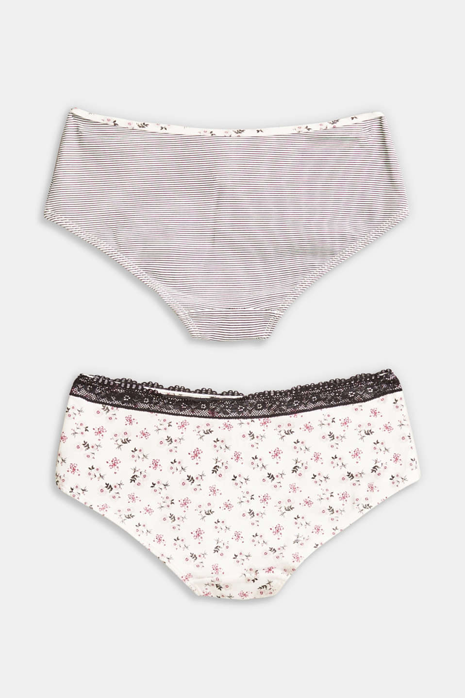 Double pack of hipster shorts with a print
