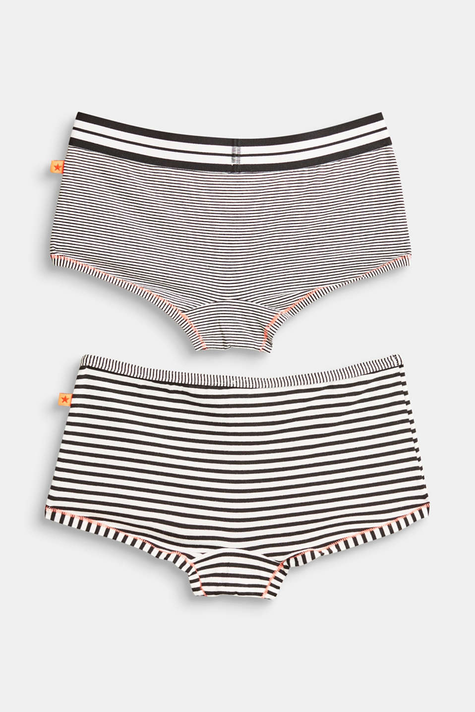 Double pack of striped hot pants