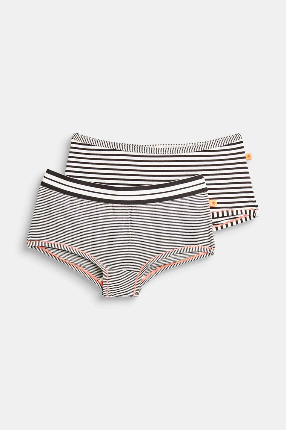 Esprit - Double pack of striped hot pants