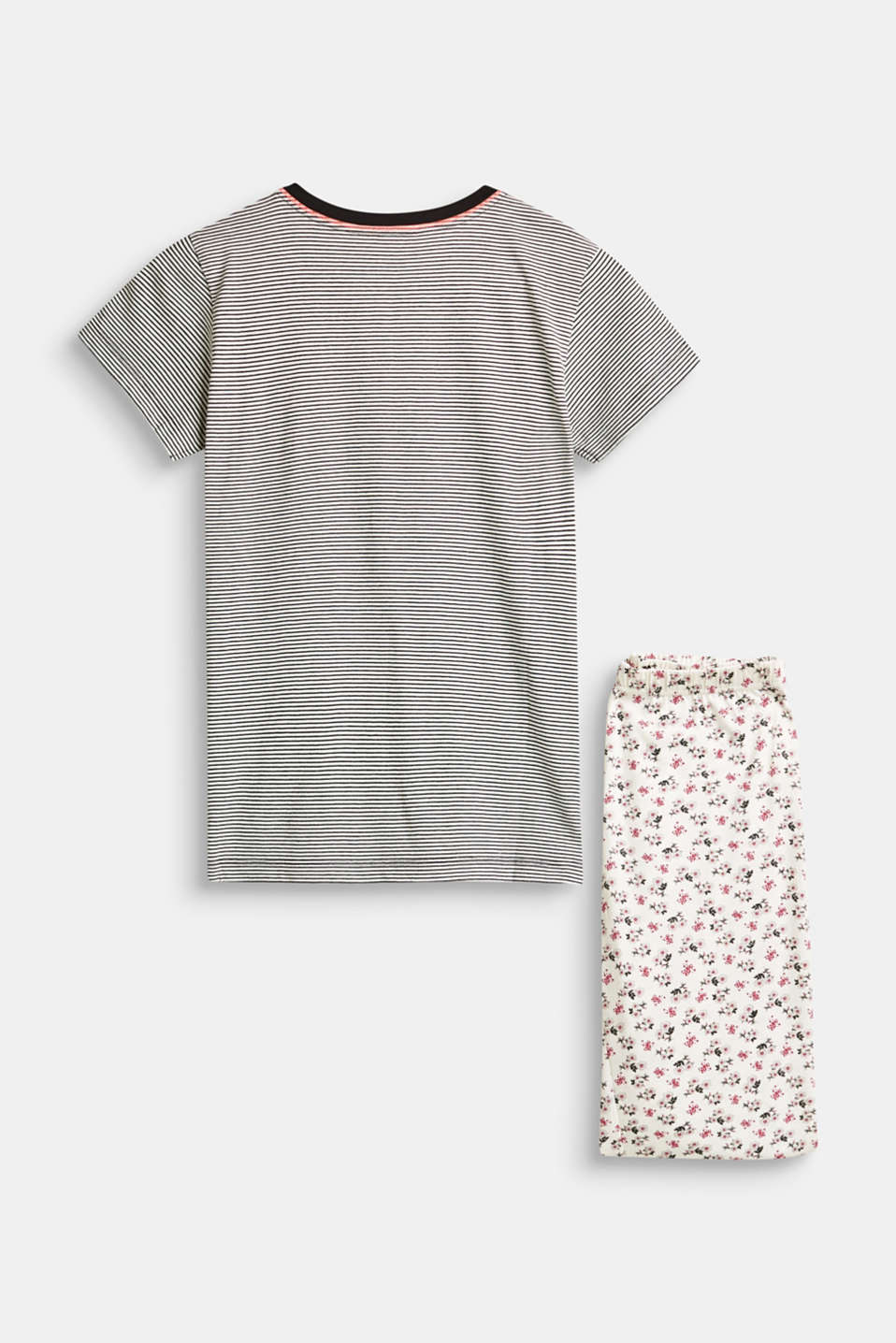 Jersey pyjamas with a print mix, 100% cotton