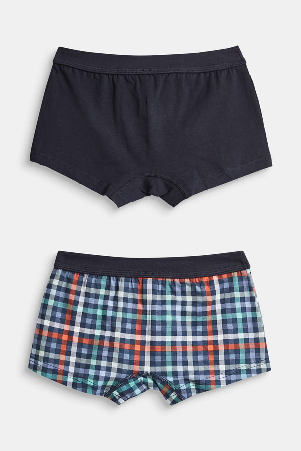 Double pack of stretch cotton shorts