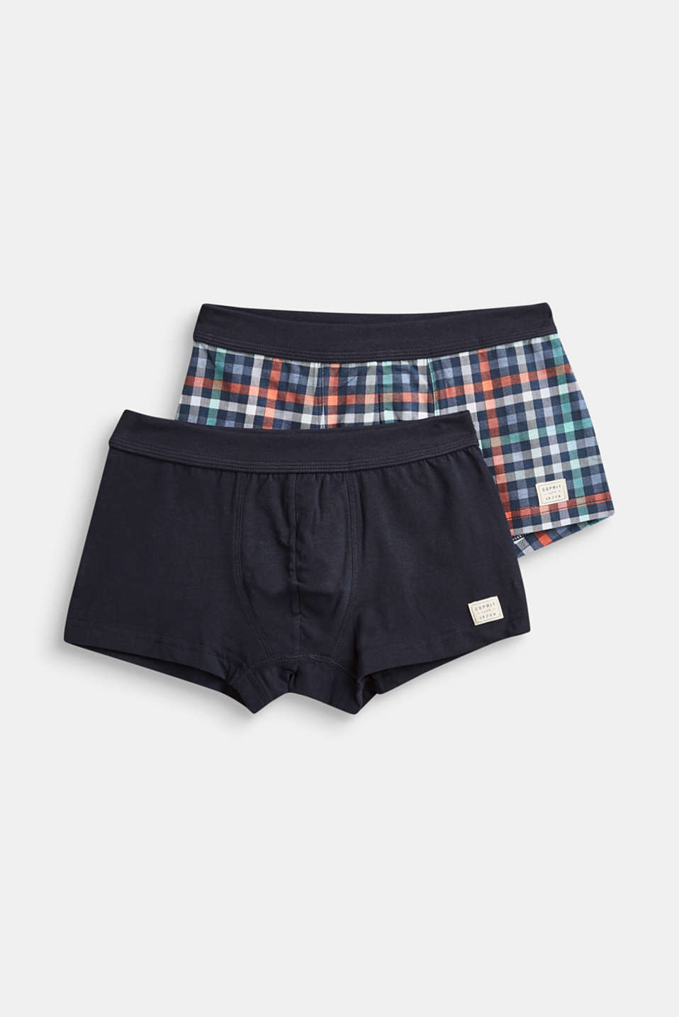 Esprit - Double pack of stretch cotton shorts