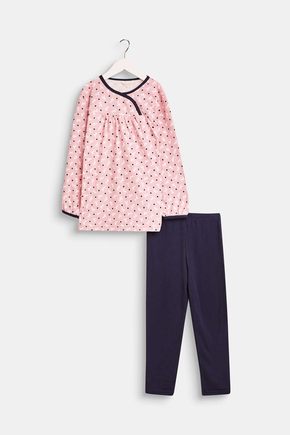 Esprit - Jersey pyjamas with a unicorn print