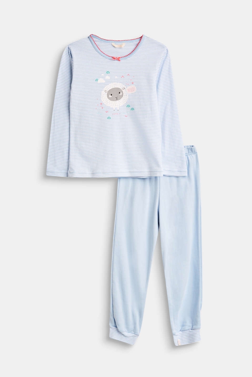 Esprit - Striped pyjama set with a front print